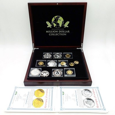 Macquarie Mint, Million Dollar Collection, 12 .999 Silver Coins