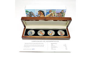 Legendary Horses of Australia Silver Proof Coins, 2014 Set of Four Limited Edition