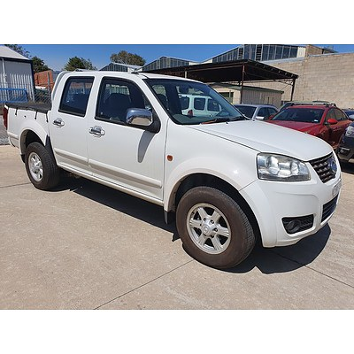 12/2012 Great Wall V200 (4x4) K2 Dual Cab Utility White 2.0L