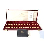 The 100 Greatest Olympic Stamps, Gilt Sterling Silver Minatures in Presentation Box