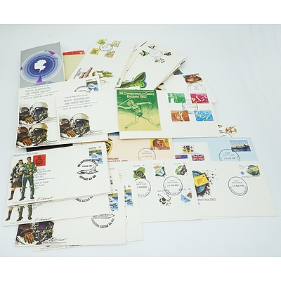 Group of First Day Covers and Stamped Envelopes Including Various Covers From RAAF Bases Around Australia and More