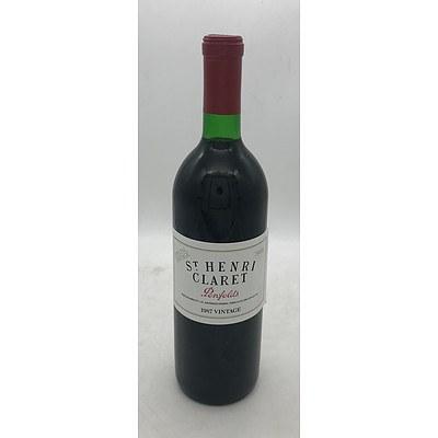 Bottle of Penfolds 1987 St. Henri Claret Special Vintage 750mL - Into Neck