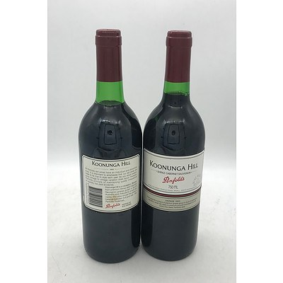 2x Bottles of Penfolds 1993 Koonunga Hill Shiraz-Cabernet Sauvignon 750mL