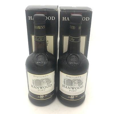 2x Bottles of McWilliams N.V. Hanwood Ten Year Port 750mL (In Box)
