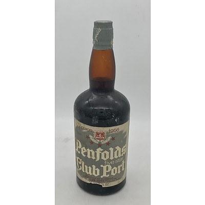 Bottle of Penfolds Vintage 1956 Five Star Club Port