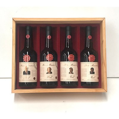 Case of 4x Bottles Wyndham Estate 1981 Prime Ministers of Australia Port Collection Series 5