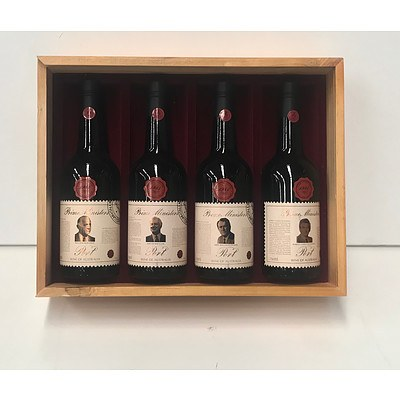 Case of 4x Bottles Wyndham Estate 1981 Prime Ministers of Australia Port Collection Series 6