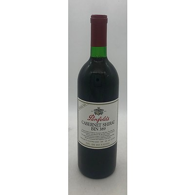 Bottle of Penfolds 1988 Cabernet Shiraz Bin 389 - 750mL
