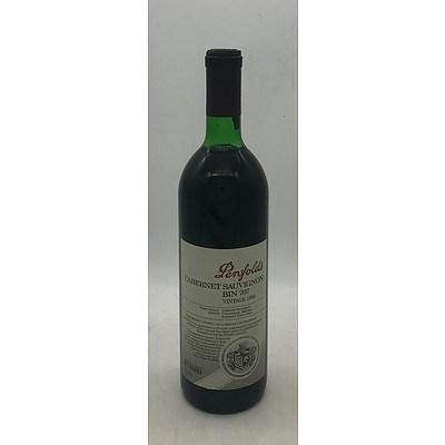 Bottle of Penfolds 1988 Cabernet Sauvignon Bin 707 - 750mL