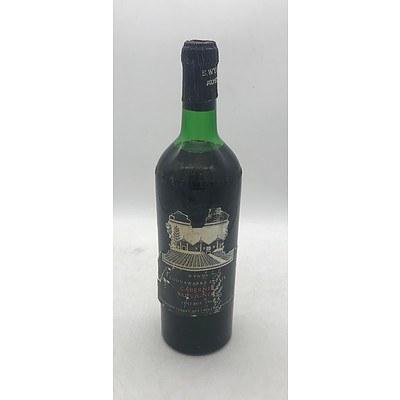 Bottle of Wynns 1967 Coonawarra Estate Cabernet Sauvignon 1 Pint 6 Fl. Oz.