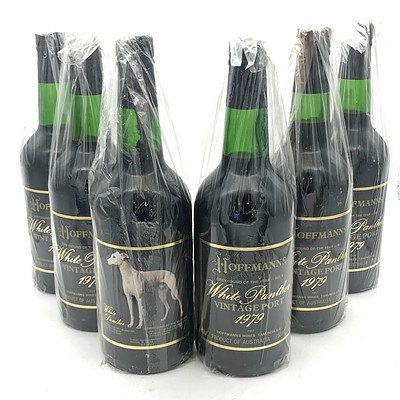 Case of 6x Hoffman's 1979 'White Panther' Greyhound of the Year Vintage Port