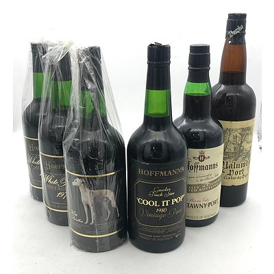 Case of 5x Assorted Hoffman's Vintage Ports & 1x Matching South Australian Vintage Port X