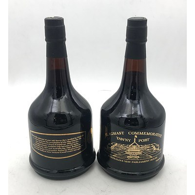 2x Bottle's of Flagmast Commemorative 1987 Tawny Port