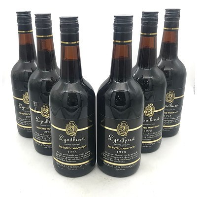 Case of 6x Lyndhurst 1978 Selected Tawny Port