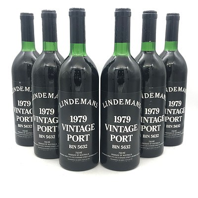 Case of 6x Lindemans 1979 Vintage Port Bin 5632
