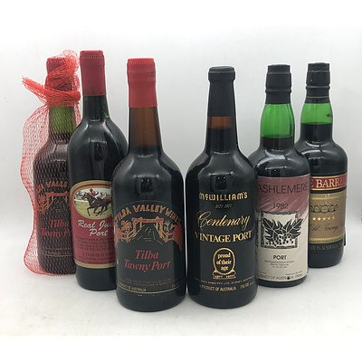 Bottle of McWilliams 1977 Centenary Vintage Port & 5x Assorted NSW Ports