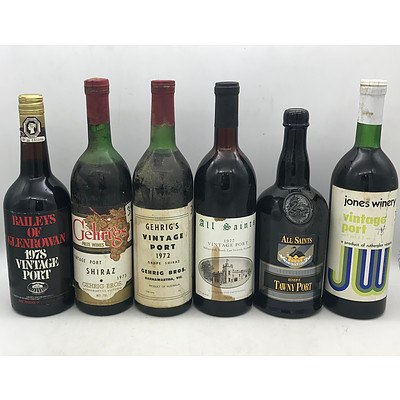 Case of 6x Assorted Victorian Vintage Ports