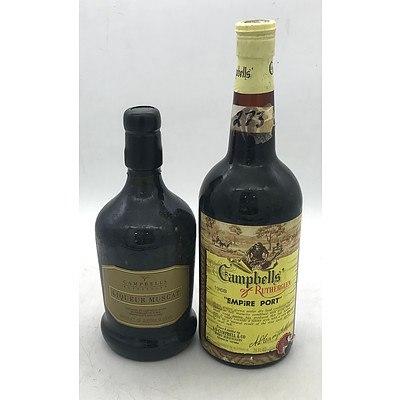 Bottle of Campbells of Rutherglen 1968 Empire Port & Bottle of Liqueur Muscat 500mL