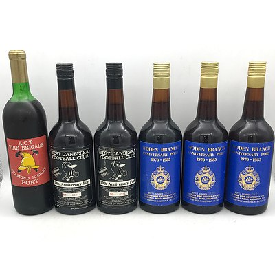 Case of 6x Assorted 1980's Canberra Anniversary Ports