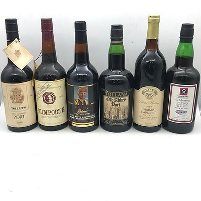Case of 6x Assorted Tolley Ports