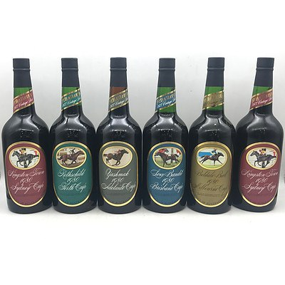 Case of 6x Assorted 1977 Vintage St Hallett's 1980 Cup Winners Ports
