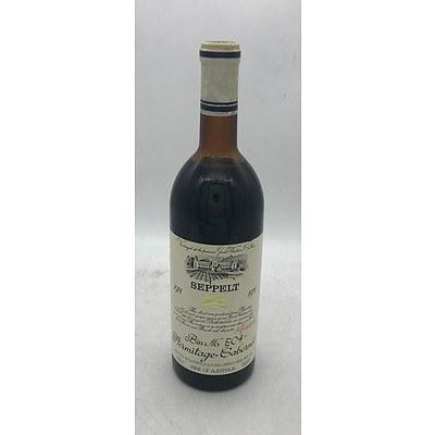 Bottle of Seppelt 1974 Hermitage Cabernet Bin No. EC4 - 750mL