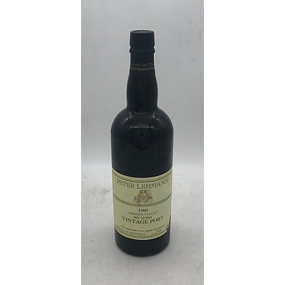 Bottle of Peter Lehmann 1980 Barossa Valley Vintage Port ~ Bin AD2001 - 750mL