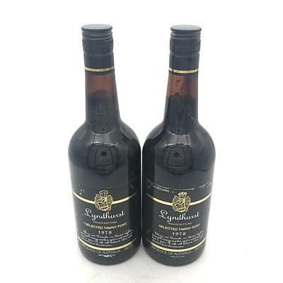 2x Bottles of Lyndhurst 1978 Selected Tawny Port