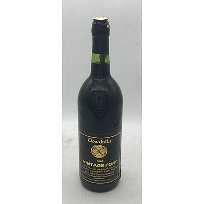 Bottle of Clonakilla 1988 Vintage Port 750mL