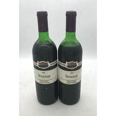 2x Bottles of Hunter Estate 1987 Hermitage 750mL