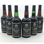 Case of 6x Hardy's Assorted Vintage Port 1969-1980 (Signs of Leakage)