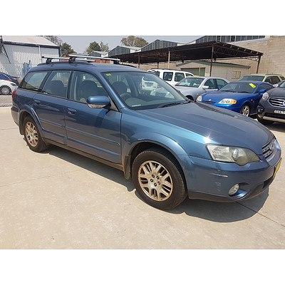 10/2003 Subaru Outback 2.5i MY04 4d Wagon Blue 2.5L