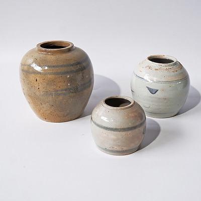 Three 19th Century Chinese Ginger Jars