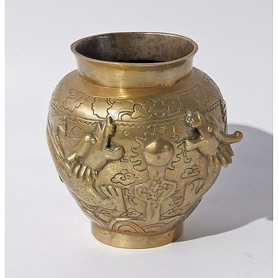 Straits Chinese Brass Vase