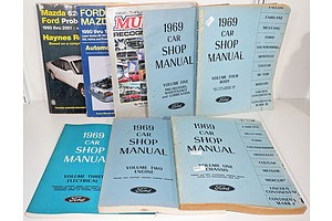Various Vintage Car Manuals, Include Falcon, Fairlane and More