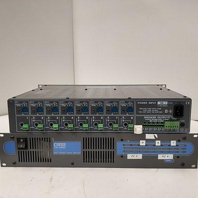 Lot Of 2 Cloud CX-A850 Eight Channel Power Amplifier