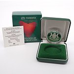 1991 Tasmania Ten Dollar Silver Proof Coin