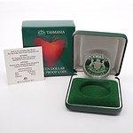 1991 Tasmania Ten Dollar Silver Proof Coin