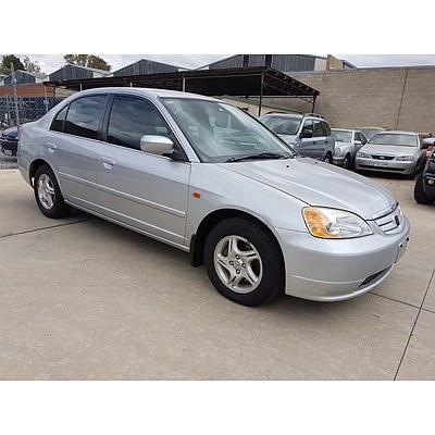 9/2002 Honda Civic GLi 7TH GEN 4d Sedan Silver 1.7L
