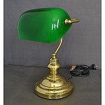 Green Shaded Bankers Lamp