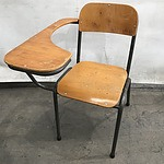 Vintage Schoolchair with Lecture Platform and A Gaslift Stool
