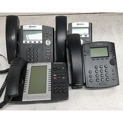 Polycom & Mitel Assorted Office Phones - Lot of 60