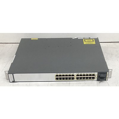 Cisco Catalyst (WS-C3750E-24TD-E V03) 3750-E Series 24-Port Gigabit Managed Switch