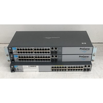 HP Assorted Ethernet Switches - Lot of Three