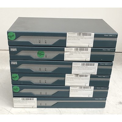 Cisco (CISCO1841 V05) 1800 Series Integrated Services Router - Lot of Six