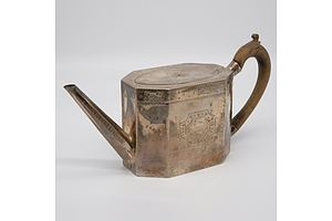 George II Silver Teapot, William Sumner, London, 1788
