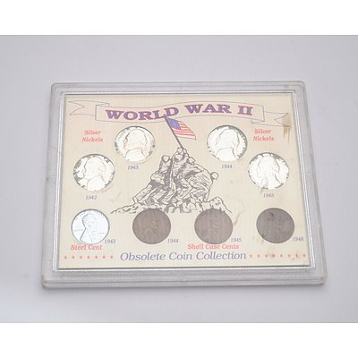 A Case of Eight WWII American Obsolete Coins
