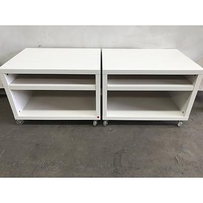 Pair of Contemporary Bedside Tables