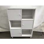 Contemporary Offset Display/Storage Cabinet