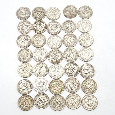 Thirty Five Australian Shillings, 1922 - 1963
